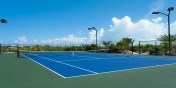 This Caribbean vacation villa rental has a private, tennis court.