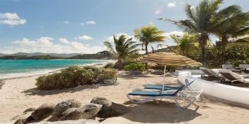 Les Palmiers, Baie Rouge Beach, Terres-Basses, St. Martin, French West Indies.