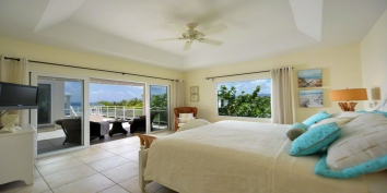 This spacious and luxurious 4 bedroom villa with a great room and swimming pool for entertaining and relaxing offers a magnificent view to the sea and the island of Anguilla.
