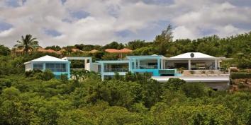 Grand Bleu villa, Baie aux Prunes, Terres-Basses, Saint Martin, Caribbean.