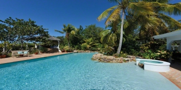 Soleil Couchant beach house, Plum Bay Beach, Terres Basses, St. Martin, French West Indies.