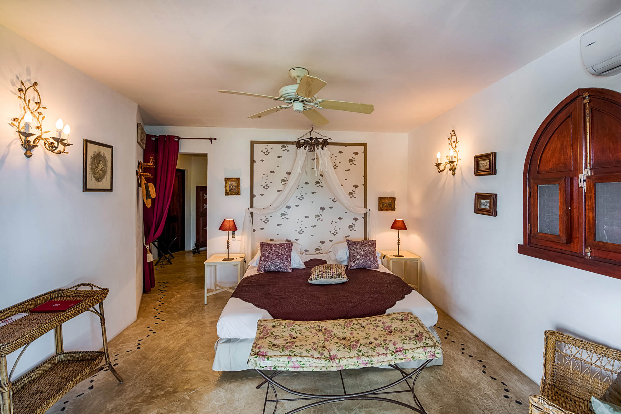 One of the spacious bedrooms at Le Mas des Sables, Baie aux Cayes, Terres-Basses, St. Martin villa rental, French West Indies.
