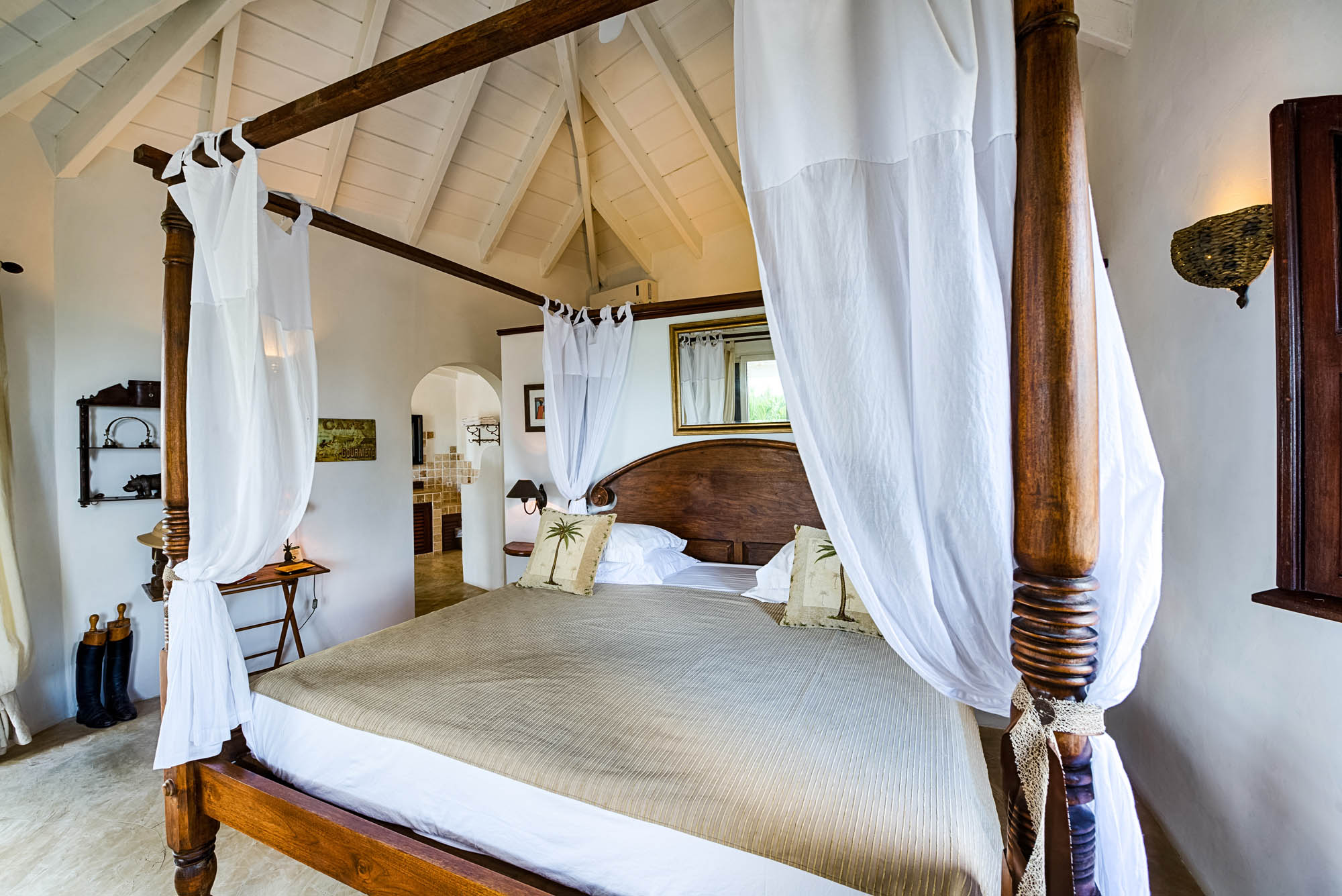Each of the large bedrooms of this St. Martin villa rental has a king sized bed.