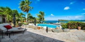 Relax in the shade and enjoy the gorgeous views of the ocean and the Saint Martin coastline.