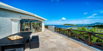 Enjoy your morning coffee with spectacular ocean views, Le Mas des Sables, Baie aux Cayes, Terres-Basses, St. Martin villa rental, French West Indies.