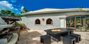 Prepare casual and delicious meals with the BBQ grill at this Saint Martin vacation villa rental.