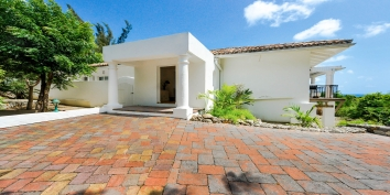 A photograph of the private entrance at this St. Martin holiday villa rental, French West Indies.