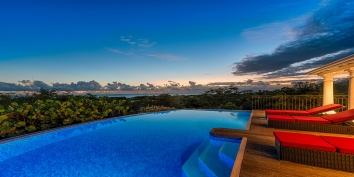 Explore the stunning views of Little Provence, Baie Longue, Terres Basses, St. Martin, French West Indies by night!