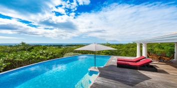 Enjoy the view of the gorgeous landscape surrounding Villa Little Provence, Baie Longue, Terres Basses, St. Martin villa rental, French West Indies.