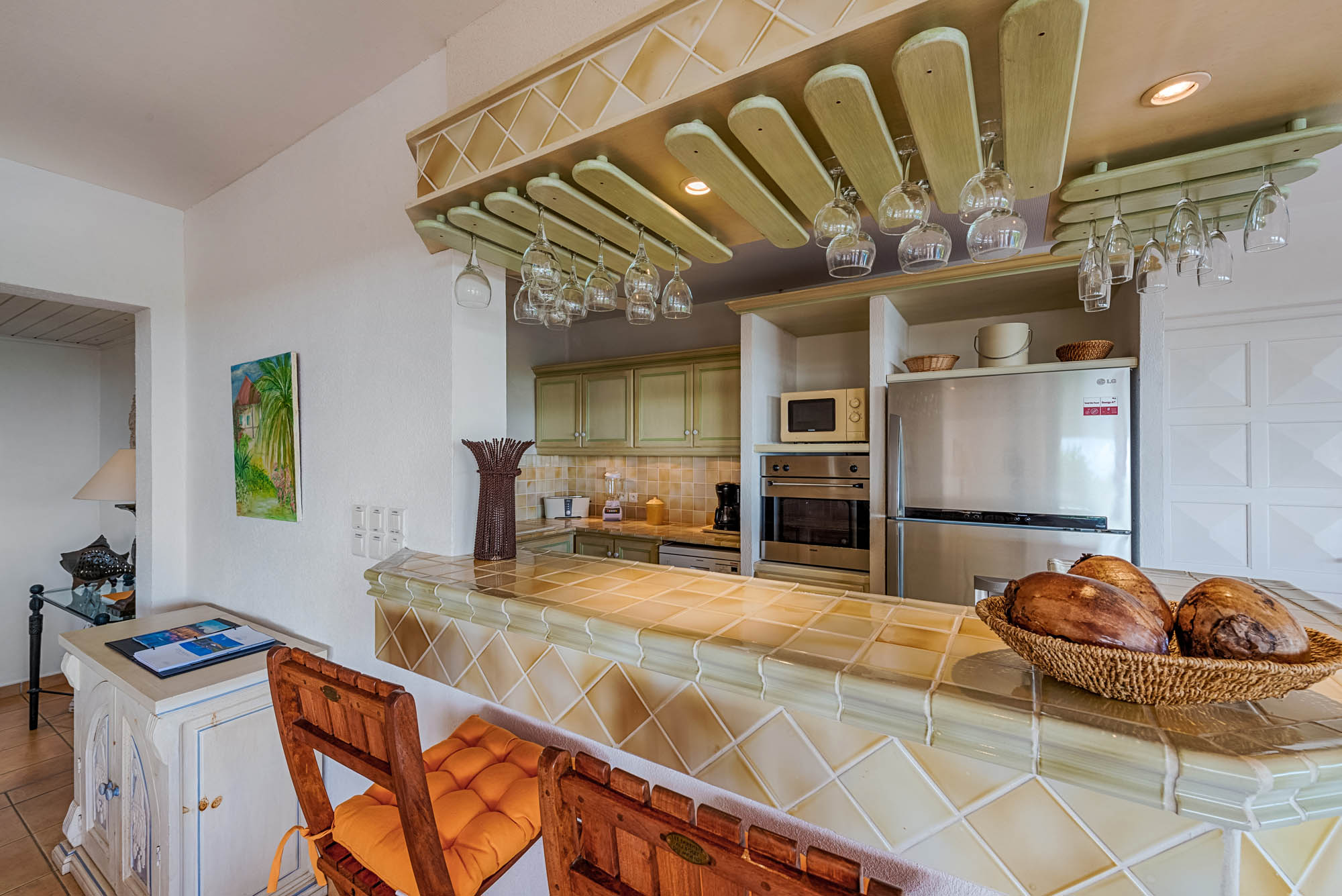 Little Provence is featuring a kitchen with every you might need while you are on vacation at  St. Martin, French West Indies.