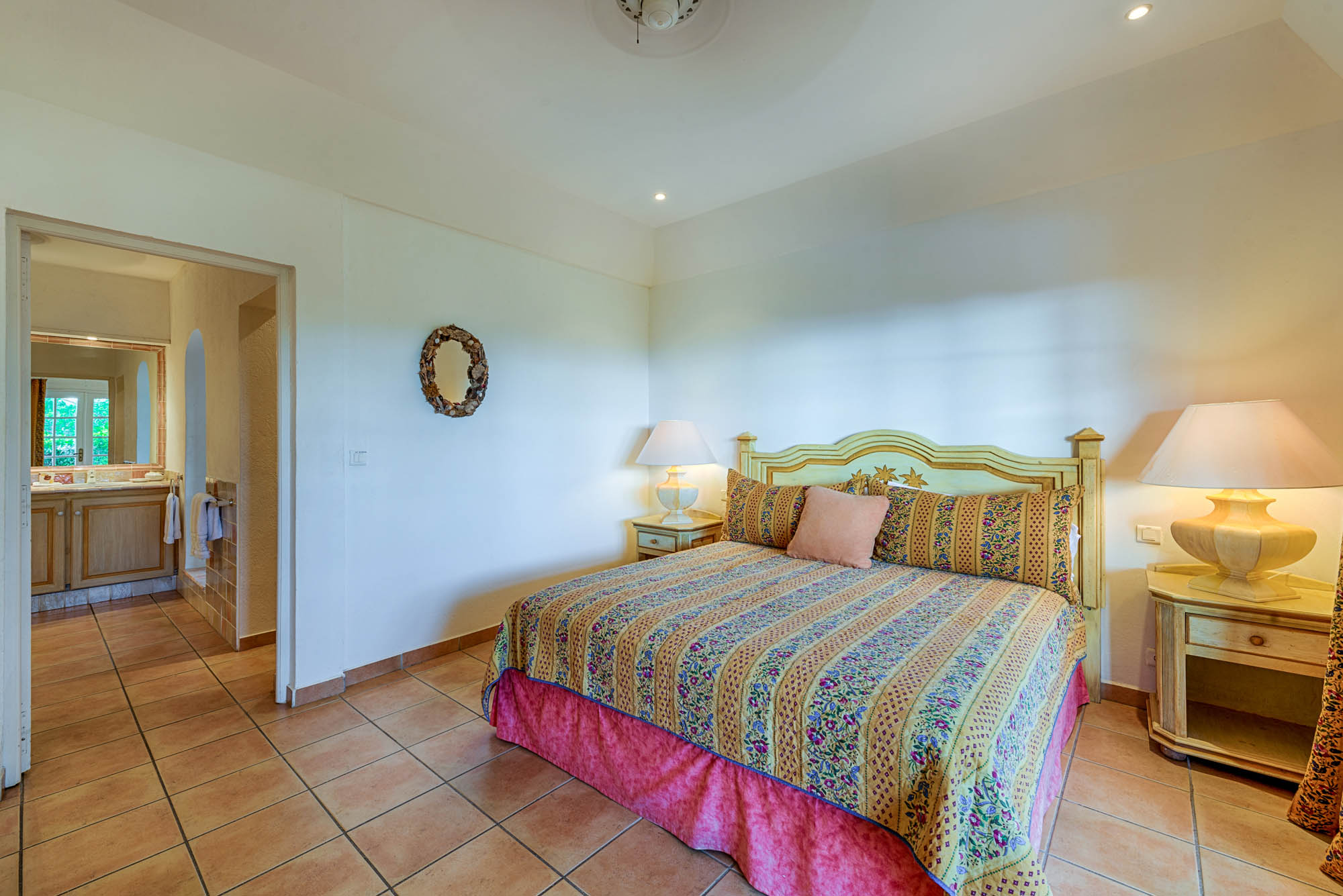 Each bedroom features a king size bed, air conditioning, french doors and ceiling fans.