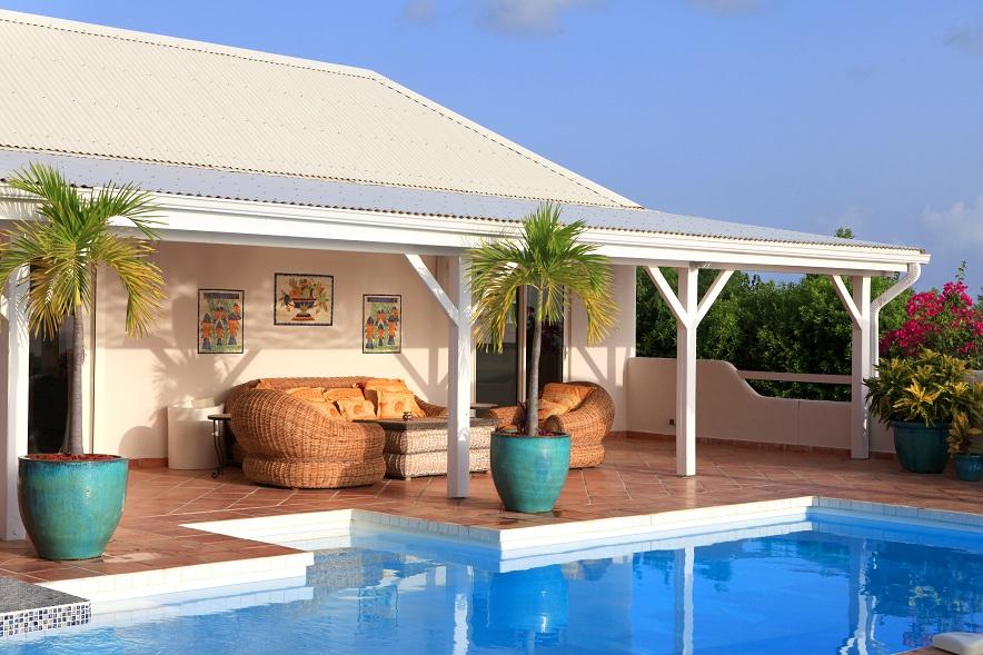 La Magnolia villa rental, Baie Longue, Terres-Basses, Saint Martin, Caribbean.