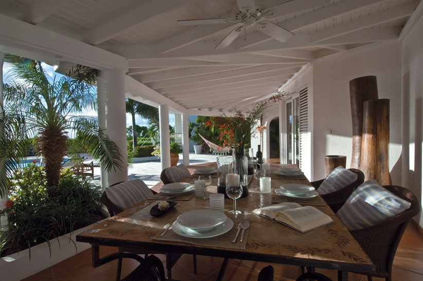 Lotus , Baie Longue, Terres Basses, St. Martin villa rental, French West Indies.