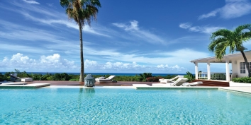 A beautiful 4 bedroom vacation villa with split level swimming pool and stunning views of the Caribbean Sea!