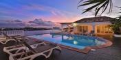 Escapade villa rental, Anse au Cajoux, Terres-Basses, Saint Martin, offers amazing Caribbean sunsets.