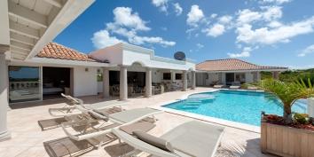 Soak up the sun while you are on vacation at La Bastide villa rental, Baie Longue, Terres-Basses, Saint Martin, Caribbean.