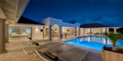 This St. Martin villa rental in the French West Indies has a wonderful relaxing atmosphere at night.