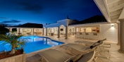 Absolutely stunning by night, La Bastide, Baie Longue, Terres Basses, St. Martin villa rental, French West Indies.