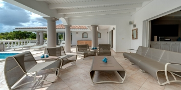 Relax in style and in the shade at this St. Martin vacation villa rental, French West Indies.