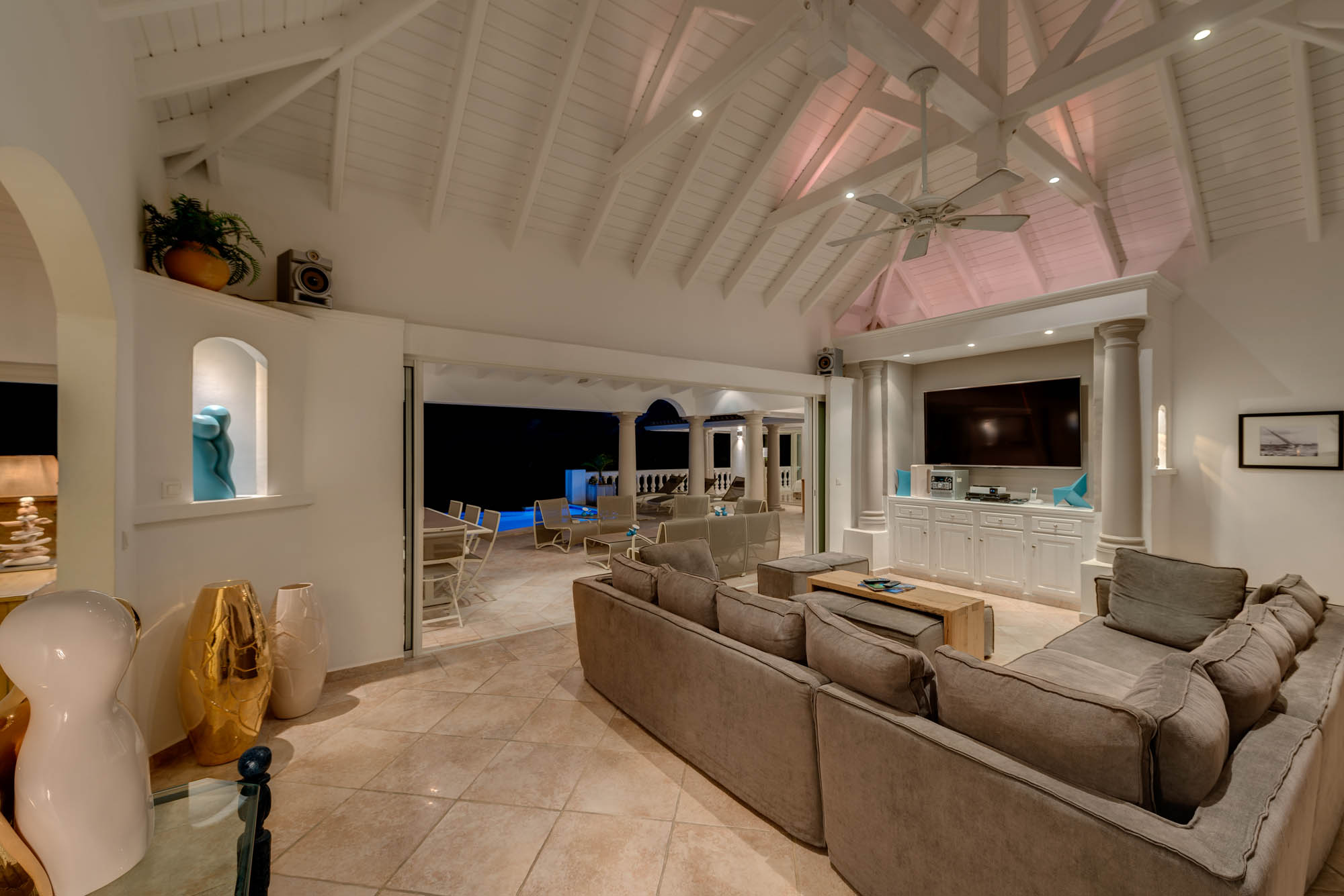 Attention has been paid to every detail at villa La Bastide, Baie Longue, Terres Basses, St. Martin villa rental, French West Indies.