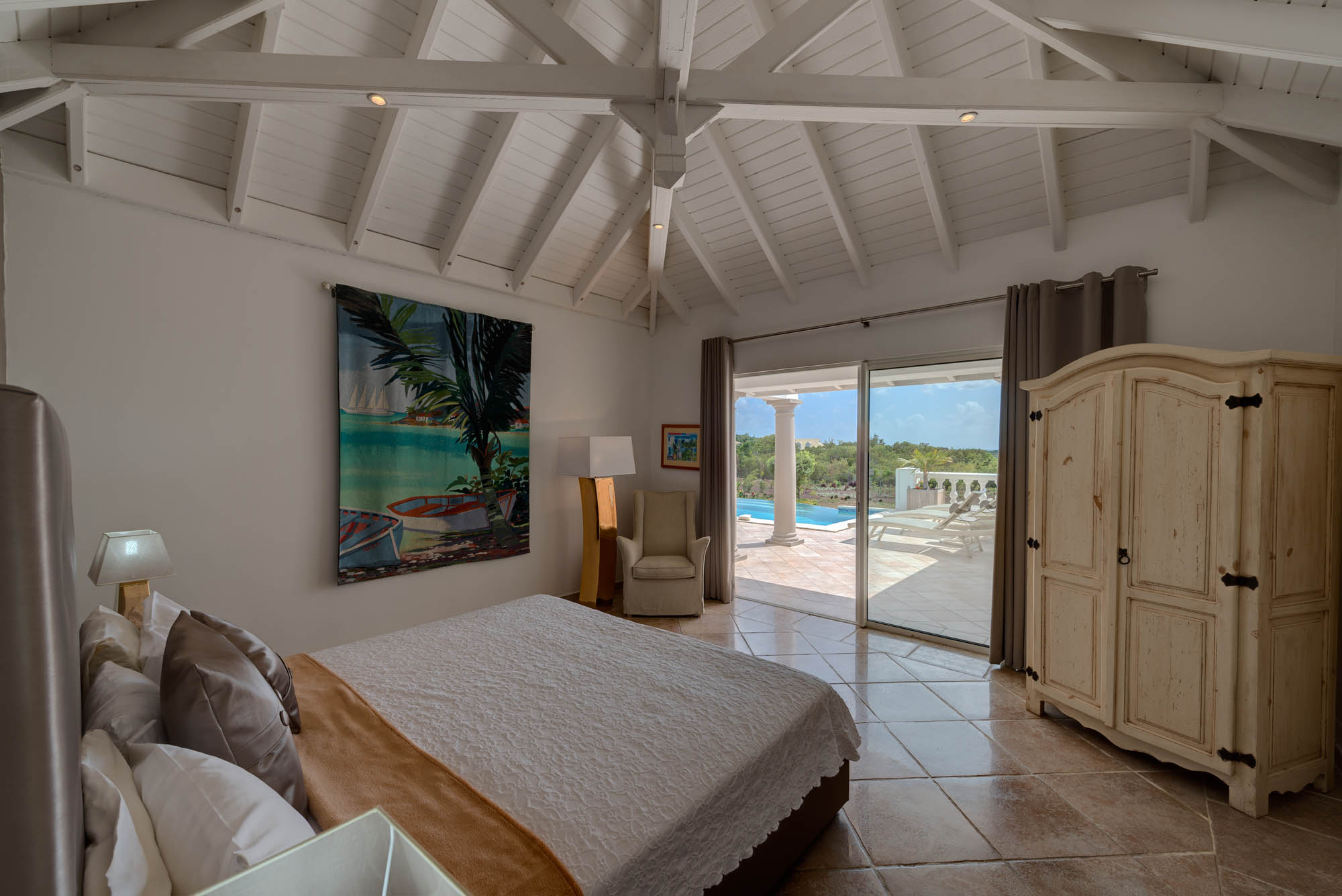 Feel the smoothing breeze from the ocean at this Saint Martin villa rental.