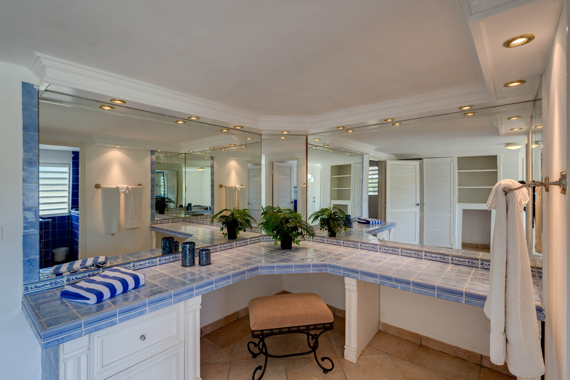 One of the beautiful bathrooms at this St.Martin vacation villa rental.