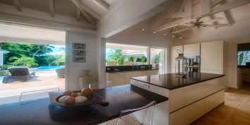 The kitchen of this St. Martin villa rental is fully equipped with everything you may need while on vacation in Saint Martin.