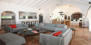 La Pergola villa rental, Baie Longue, Terres-Basses, Saint Martin, Caribbean.