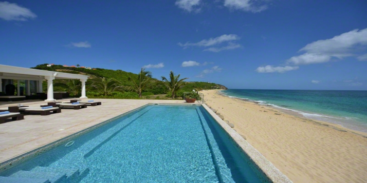 An absolutely gorgeous, brand new, 2 bedroom villa with swimming pool and jacuzzi directly on Baie Rouge Beach!