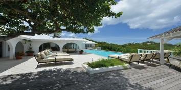 Pointe des Fleurs villa rental, Baie aux Cayes, Terres Basses, Saint Martin, Caribbean.