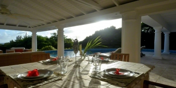 Pure Caribbean feeling at this St.Martin holiday villa rental.