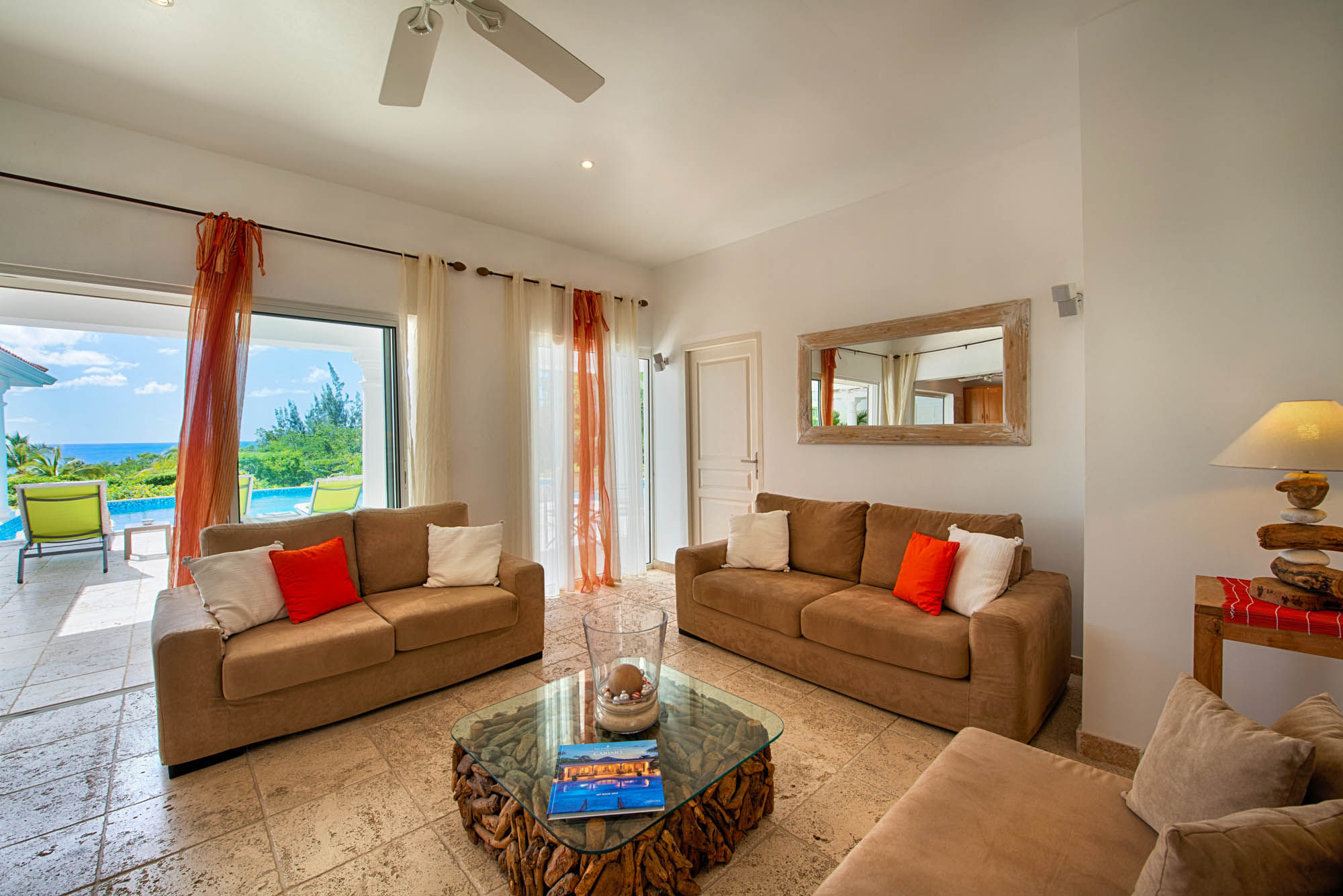 The great view from the living room of Lune de Miel, Baie Longue, Terres Basses, St. Martin villa rental, French West Indies.