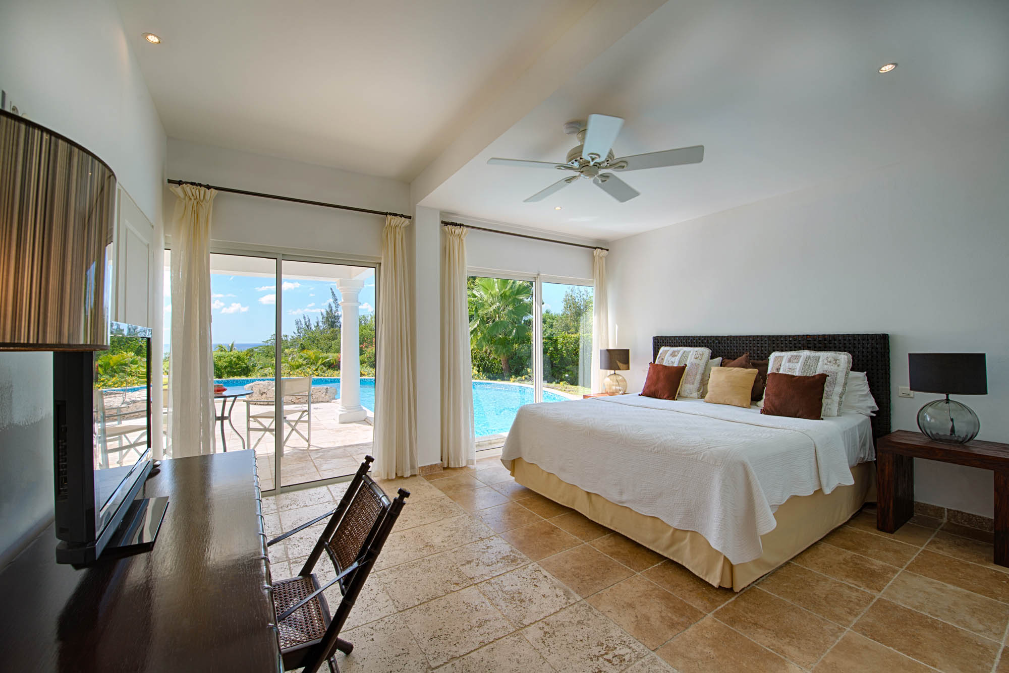 Feel the smoothing breeze from the ocean at Lune de Miel villa rental, Baie Longue, Terres-Basses, Saint Martin, Caribbean.
