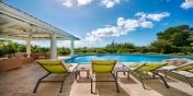 Stylish lounges and sunbed for soaking up the Caribbean sun at Villa Lune de Miel, Baie Longue, Terres-Basses, Saint Martin, Caribbean.