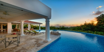 Lune de Miel villa rental is the perfect getaway in Saint Martin for two couples or a family of four.