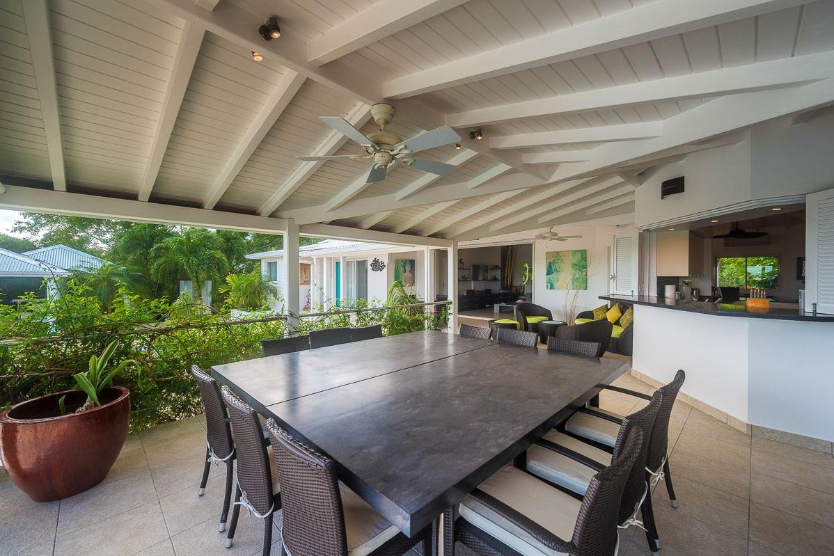 Sol e Luna villa rental, Baie Longue, Terres-Basses, Saint Martin, Caribbean.