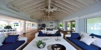 Bleu Passion villa rental, Baie aux Prunes, Terres-Basses, Saint Martin, Caribbean.