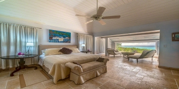 A beautiful bedroom at villa Eden, Baie Longue Beach, Terres Basses, St. Martin villa rental, French West Indies.