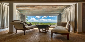 Spacious and elegant Eden villa, Baie Longue Beach, Terres-Basses, Saint Martin, Caribbean.