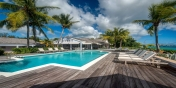 Villa Eden has a large swimming pool and is ideally located on Long Bay Beach, Terres Basses, St. Martin, French West Indies.