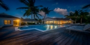 Absolutely gorgeous by day or night, Eden, Baie Longue Beach, Terres Basses, St. Martin villa rental, French West Indies.