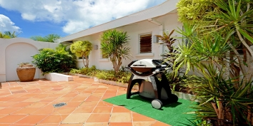 Make some delicious food with your private BBQ grill at Beaulieu villa rental, Long Bay Beach, Terres-Basses, Saint Martin, Caribbean.