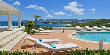 Soak up the sun and while you are on vacation at Beaulieu villa rental, Long Bay Beach, Terres-Basses, Saint Martin, Caribbean.