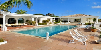 A luxurious and stunning 3 bedroom, oceanview villa with spacious heated swimming pool and spectacular views of the Caribbean Sea!
