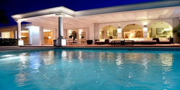 Beaulieu villa rental, Long Bay Beach, Terres-Basses, Saint Martin, Caribbean offers a great scenery at night.