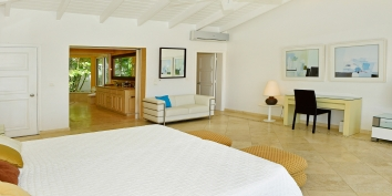 One of the beautiful master bedrooms at Villa Beaulieu, Long Bay Beach, Terres Basses, St. Martin villa rental, French West Indies.
