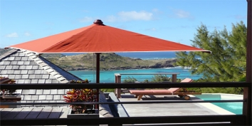 The small swimming pool of Baby Blue, Petit Cul de Sac, St. Barts villa rentals, Caribbean.