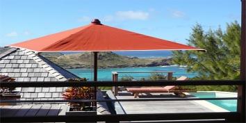 The small swimming pool of Baby Blue, Petit Cul de Sac, St. Barts villa rentals, Caribbean.
