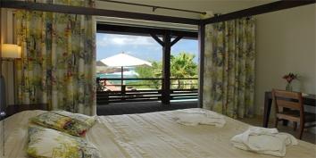A comfortable Baby Blue bedroom, Petit, Cul de Sac, St. Barts luxury villa rentals, Caribbean.