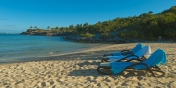 The beautiful beach of Petit Cul de Sac is only a couple of minutes walk from this St. Barths holiday villa.
